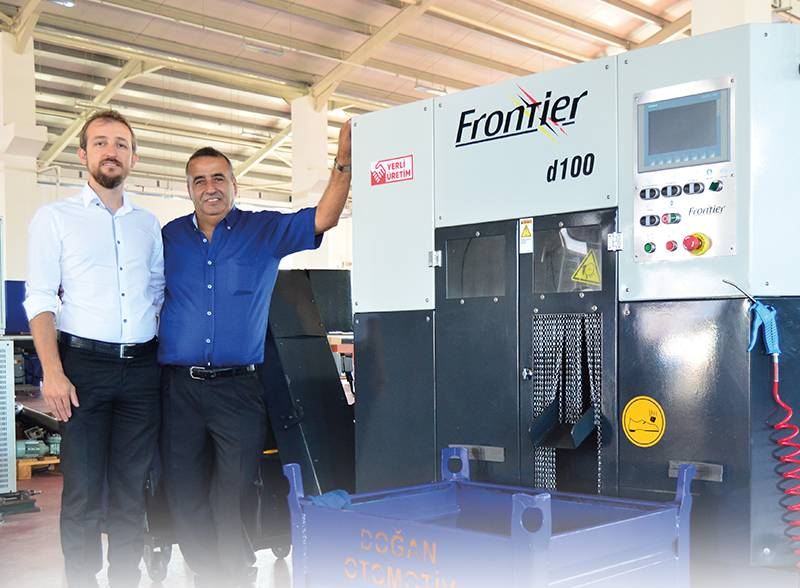 """""""Cutting speed increased by 100 percent with Frontier domestic saw"""""""