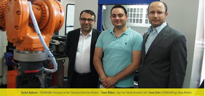Ege Fren, TEZMAKSAN'ın robotlu otomasyon uygulamasıyla Endüstri 4.0'a hazır