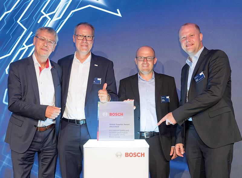 """""""SW Machine"""" represented by TEZMAKSAN in Turkey Received Global Supplier Award from Bosch"""