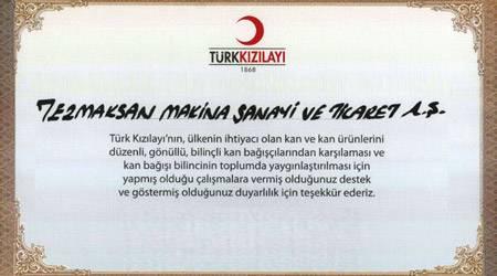 Tezmaksan Çalışanlarından Türk Kızılayı'a Destek